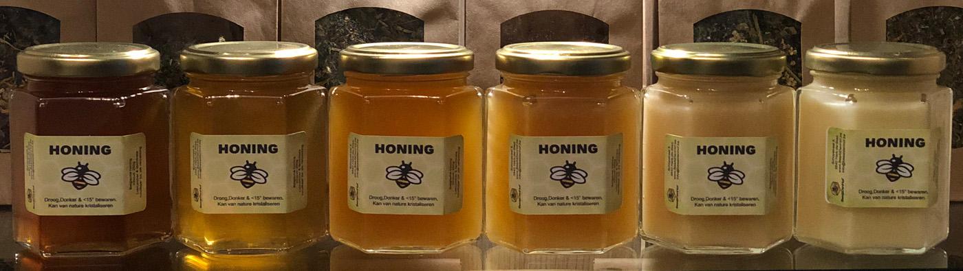 Verschillende soorten Honing